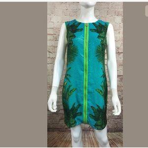 Versace For H&M Zipper Dress Miami Palm Sequins 8